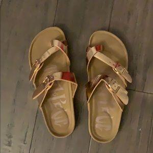 Never worn rose gold sandals